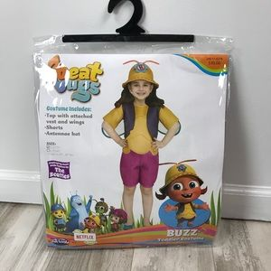 Beat Bugs Buzz Toddler Costume. Size S 2T/3T
